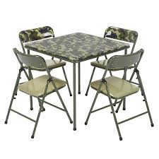 Cosco Pinch-Free 5pc Vinyl Set, Camo With Green Frame Meco Sudden Comfort Deluxe Double Padded Chair And Back 5 Piece Square White Table And Multi Color Set Cecilia Folding Tablechair Shopko Chairs At Office Max Cosco 5piece Vinyl Bridgeport 32inch Wood Card 48 Black Ding Amazoncom Mid Century Modern Gatefold Two Kids Multiple Colors Card Table Chairs Amazon Avalonmasterpro Sturdy Game Poker Walmartcom