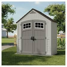 resin cascade storage shed 7 x 4 vanilla gray suncast target