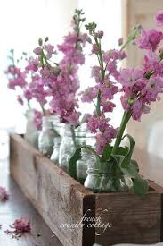 Rustic Beauty Great Dining Room Table Centerpiece I Have These Flowers Growing Wild In My Yard All Summer Very Pretty