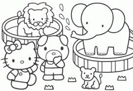 Coloring Pages Printable Elephant Color Page Online Hello Kitty Dogs Lion Inside Painting Games Popular Perfect