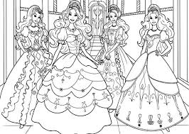 Beautiful Barbie Three Musketeers Coloring Pages