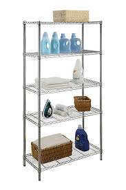 Home Depot Canada Decorative Shelves by Hdx 36 Inch W Heavy Duty 5 Tier Shelving Unit In Chrome The Home
