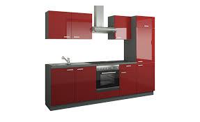 küchenzeile mit elektrogeräten aachen rot küchen küchenblöcke mit e geräten höffner