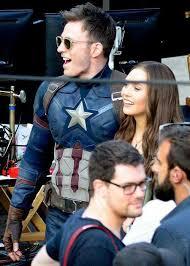 Captain America Chris Evans And Elizabeth Olsen Image