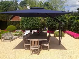 piazza large variable height side arm cantilever garden parasol