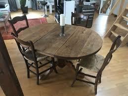 esszimmertisch tisch antik 6 stühle binsenstühle ammerland eiche