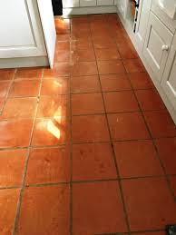 terracotta floor tiles before cleaning kingston on thames kitchen