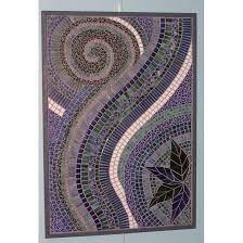 wall designs mosaic wall mosaic wall rectangle purple