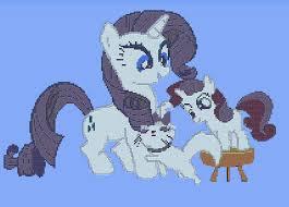 ShizaLuckyDevil 1 0 Rarity and Sweetie Belle Terraria Pixel Art by Sporkbacon