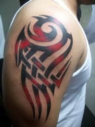 Warrior Tribal Bicep Mens Tattoo Designs 241x