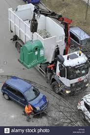 100 Glass Truck Container Glass Truck Street Sorted Waste Stock Photo 129854438