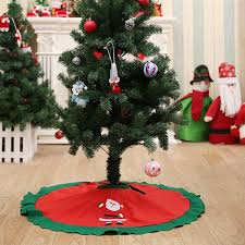 90cm Red Christmas Tree Skirt Santa Claus Carpet New Year Decorations For Home 2018 Decoration