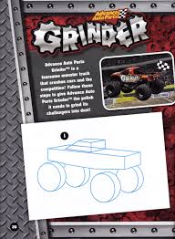 Craftside: How To Draw Monster Trucks From The Monster Jam Drawing ...