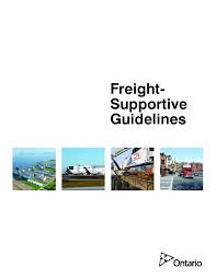 Freight-Supportive Guidelines