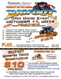 100 Boyer Ford Trucks Inc Open House Flyer Bigfoot 44 Monster Truck Racing Team