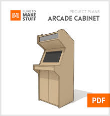 Arcade Cabinet Plans 32 Lcd by Downloadable Plans For Creating A Full Size Arcade Cabinet Diy