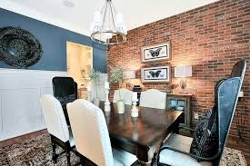 Accent Walls Like That Brick Warm Up The Dining Area