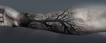 Forearm Tree Tattoo Designs For Men