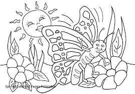 Springtime Coloring Pages Free Printable And Spring For