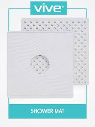 Bathtub Mat No Suction Cups by Amazon Com Shower Mat By Vive Square Bath Mats With Drain Hole