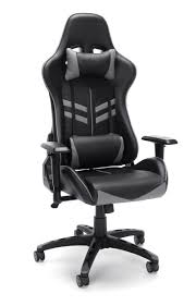 Essentials By OFM Racing Style Gaming Chair, Black/Gray (ESS-6065-GRY) Pottery Barns Playstation Fniture Is The New Highend X Rocker Xpro 300 Black Pedestal Gaming Chair With Builtin Speakers Ncaa High Back Chairs By Rawlings 2pack Imperial Goto Source For This Years Dorm Room Must College Covers Ohio State Buckeyes Bunjo Dual Commander Available In Multiple Colors Zline Executive Game Tables Shop Noblechairs Epic Series White South Africa Style Office Racing Design Corsair T1 Race And Pc Proline Tall Swivel Outdoor