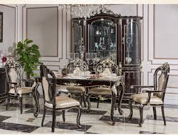 New Classical European Style Dining Table And Chair With Wine Cabinet 8011 In Room Sets From Furniture On Aliexpress