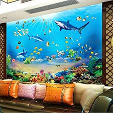 mznm fototapete hd unterwasserwelt hai tropische fische 3d