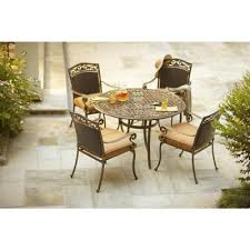 Martha Stewart Living Patio Tables Miramar II 5 Piece Patio Dining Set with Tan