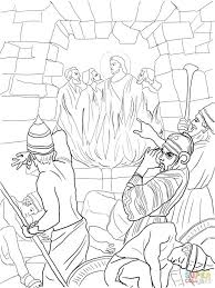 Fiery Furnace Bible Story Coloring Pages To Print Free Printable For Preschoolers