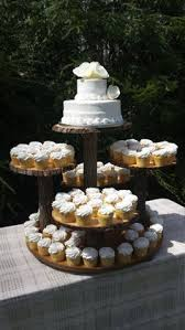 Rustic Cupcake Stand Log Tree Cake Wedding Wood