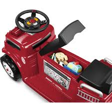 100 Radio Flyer Fire Truck BatteryOperated RideOn For 2 With Lights