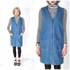 Early 90s Vintage Grunge Clothing S Denim Zip Up Dress Dresses Minimal Uniquestyles Ucwant More Click