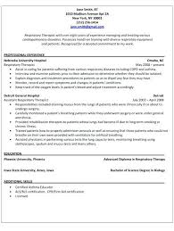 Counseling Resume Examples Respiratory Therapist New Certified School Vintage