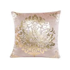 coussin de luxe pour canapé coussin couvre floral or velours de luxe taie d oreiller pour canapé