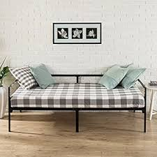 amazon com dhp ava daybed metal frame twin black kitchen dining