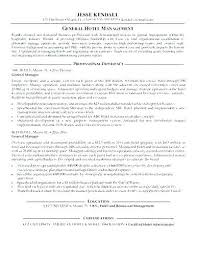 Resume For General Manager Sample Stage Management Of Hotel Useful Materials Best