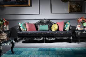 casa padrino luxus barock sofa schwarz grün gold 240 x 88 x h 105 cm wohnzimmermöbel im barockstil