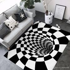 großhandel 3d teppiche luxus geometrie optische täuschung teppiche badezimmer wohnzimmer boden rutschfeste matte schlafzimmer nacht teppich dekor