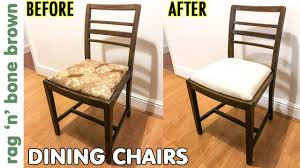 Dining Chairs Makeover & Seat Pad Conversion