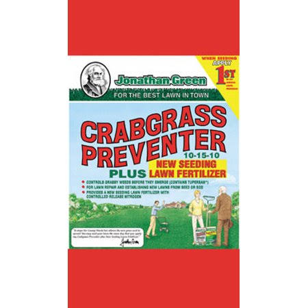 Jonathan Green Crabgrass Preventer Plus New Seeding Lawn Fertilizer - 15lbs