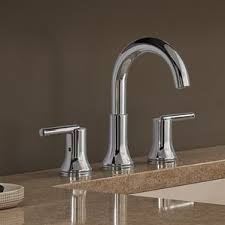 Delta Trinsic Bathroom Faucet Champagne Bronze by Chrome Sink Faucets You U0027ll Love Wayfair