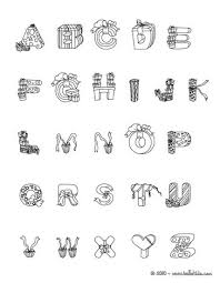 CHRISTMAS Letters Of Alphabet Coloring Pages