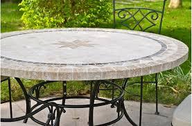 table ronde mosaique fer forge grande table ronde en mosaïque mexixo de marbre pour extérieur