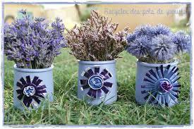 pot de yaourt recyclable diy déco extérieure recycler des pots de yaourts mauves