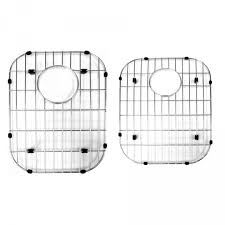 stainless steel sink protector grid for 60 40 double bowl home