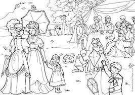 1900s Garden Party Colouring Page