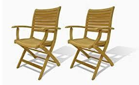 Folding Patio Chairs Amazon by Amazon Com Amazonia Teak Dublin 2 Piece Teak Folding Armchairs