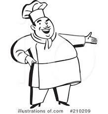 Royalty Free RF Chef Clipart Illustration by BestVector