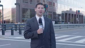 Stock Video Of Day White Male News Reporter Suit