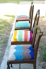 Plastic Seat Covers For Dining Room Chairs by Crocheted Seats For Mismatched Dining Chairs For Inspiration